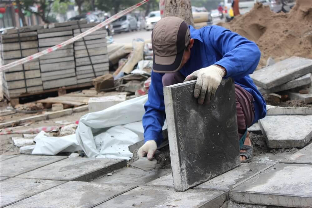 gạch bê tông giả đá coric vật liệu thay thế đá tự nhiên