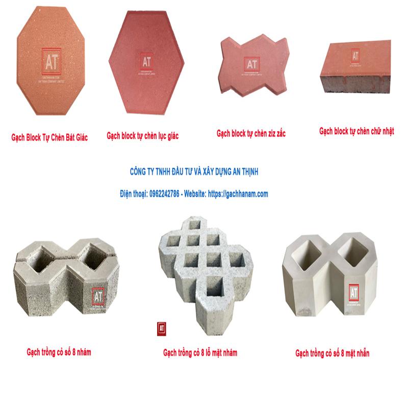 Các mẫu gạch block lát vỉa hè
